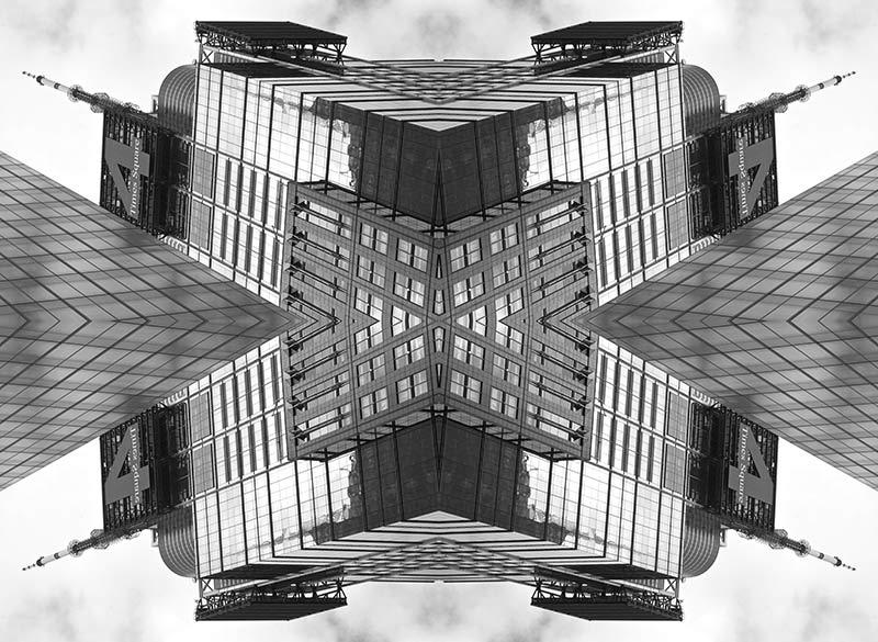 Four times 4 Times Square - Durst print on Plexiglass + Dibond aluminium panel 130x 95 cm – 51 x 37.5 inch. - Edition of 7