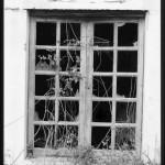 Fluminimaggiore, miniera Su Zurfuru. Finestra dell'edificio che ospiatava le laverie.